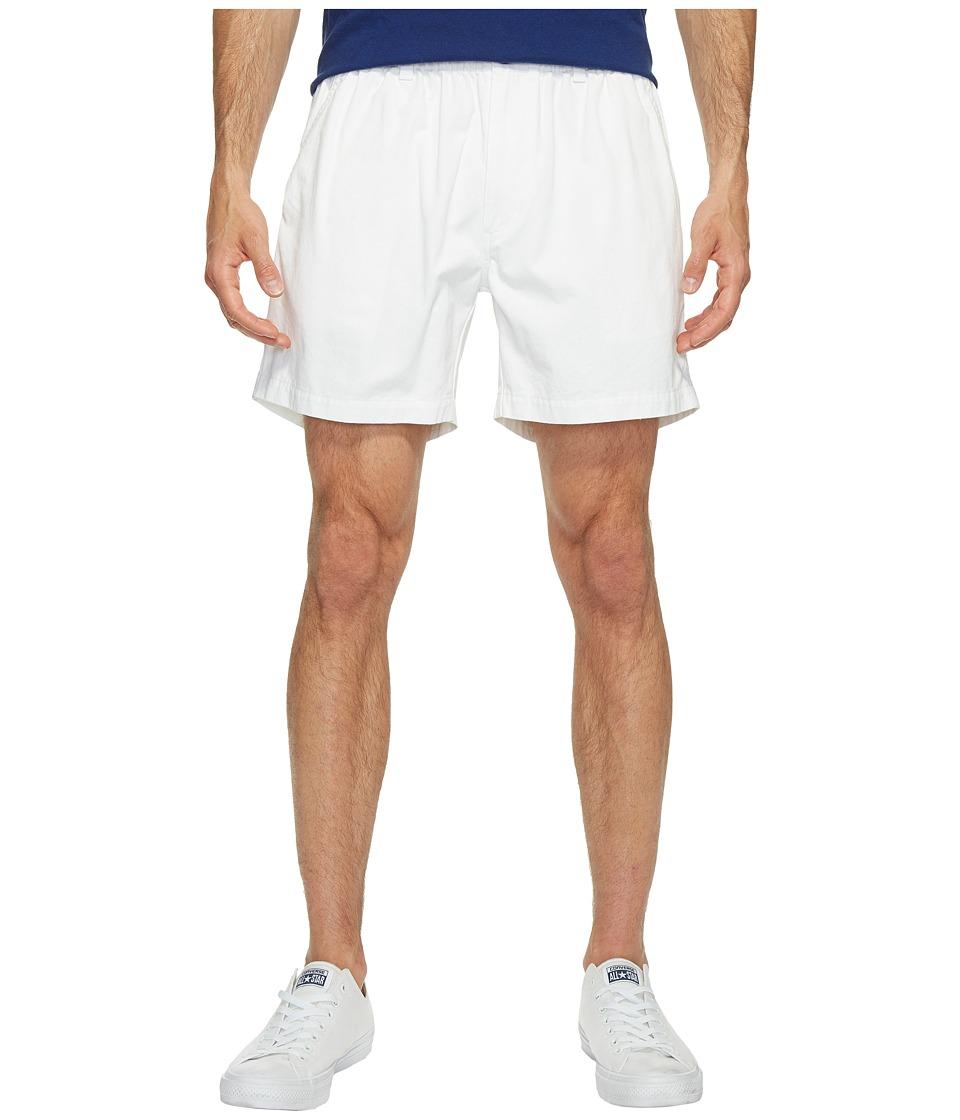 Vintage 1946 Snappers Vintage Washed Elastic Waistband Shorts (White) Men