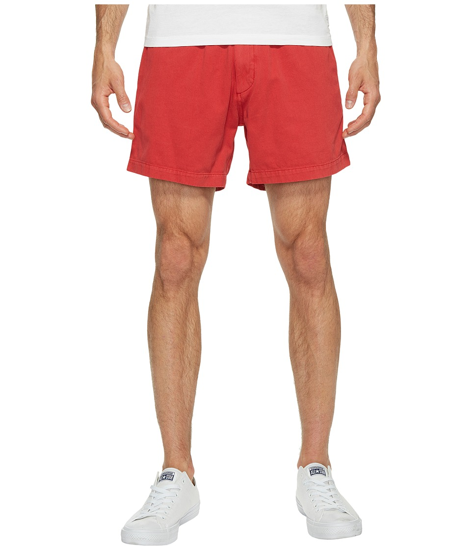 Vintage 1946 - Snappers Vintage Washed Elastic Waistband Shorts (Red) Men's Shorts