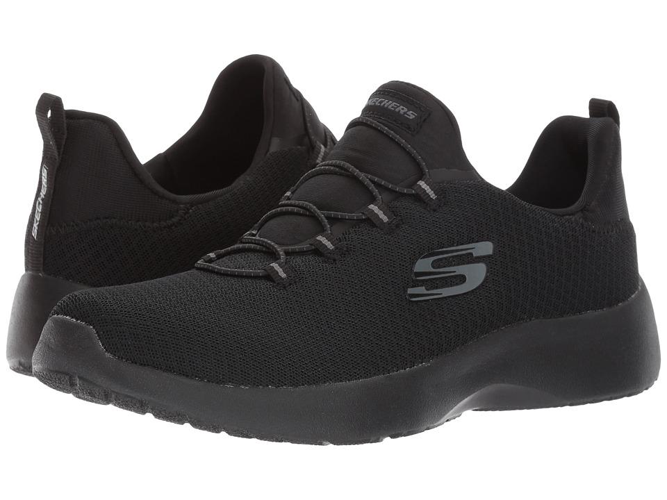SKECHERS - Mesh High Apex Bungee Slip-On (Black) Women's Slip on Shoes