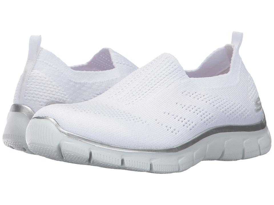 SKECHERS - Empire - Inside Look (White) Women's Slip on Shoes