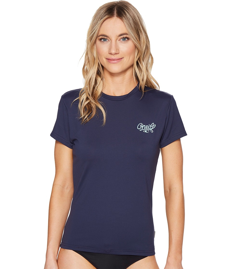 O'Neill - Skins Short Sleeve Rash Tee (Slate) Women's Swimwear