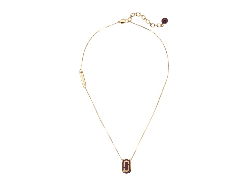 Marc Jacobs - Icon Enamel Pendant Necklace (Deep Bordeaux) Necklace