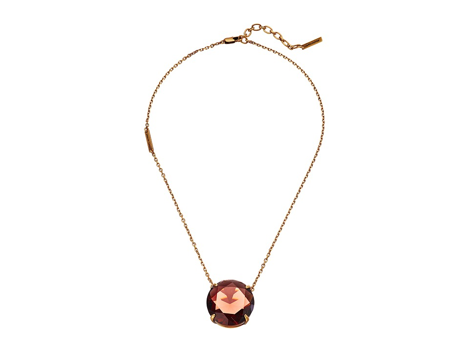 Marc Jacobs - Large Stone Pendant Necklace (Blush Rose) Necklace