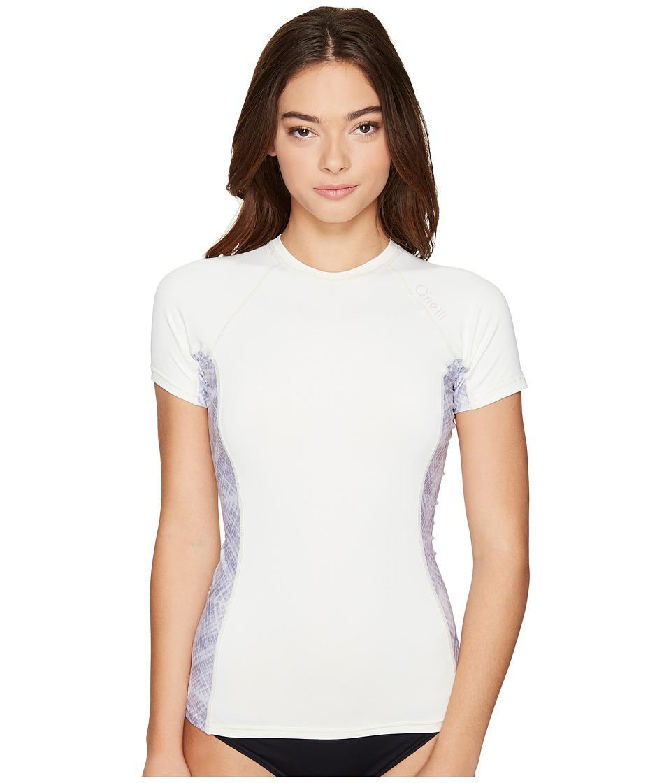 ONeill Side Print Short Sleeve Crew Vanilla & Vida & Vanilla Swimwear
