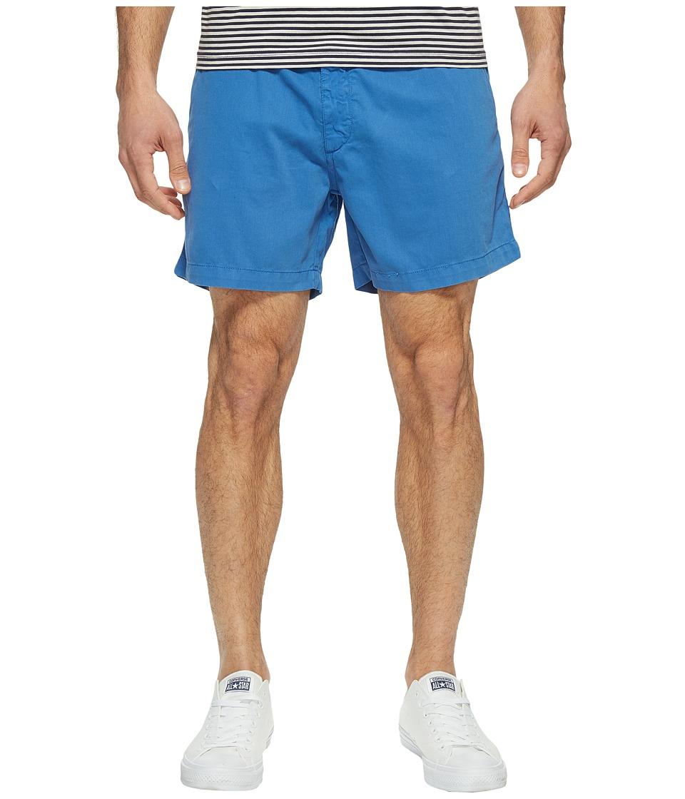 Vintage 1946 - Snappers Vintage Washed Elastic Waistband Shorts (Prep Blue) Men's Shorts