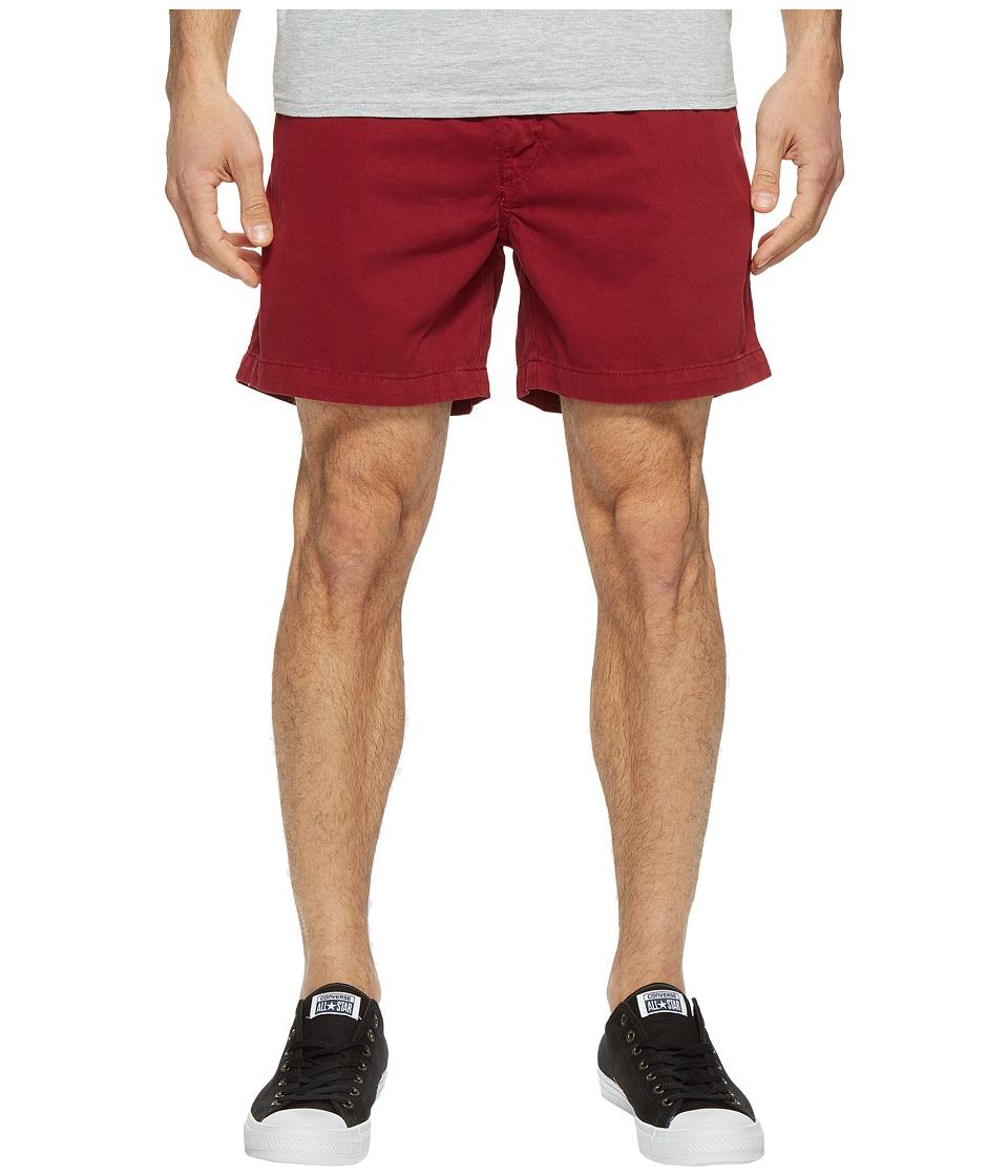 Vintage 1946 Snappers Vintage Washed Elastic Waistband Shorts (Garnet) Men