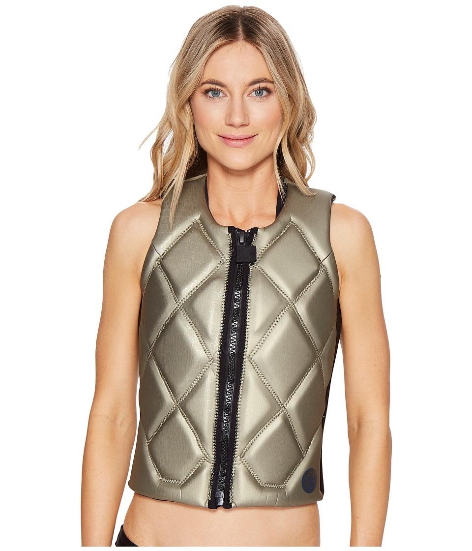 O'Neill - Gem Comp Vest (Champagne/Black/Slate) Women's Swimwear