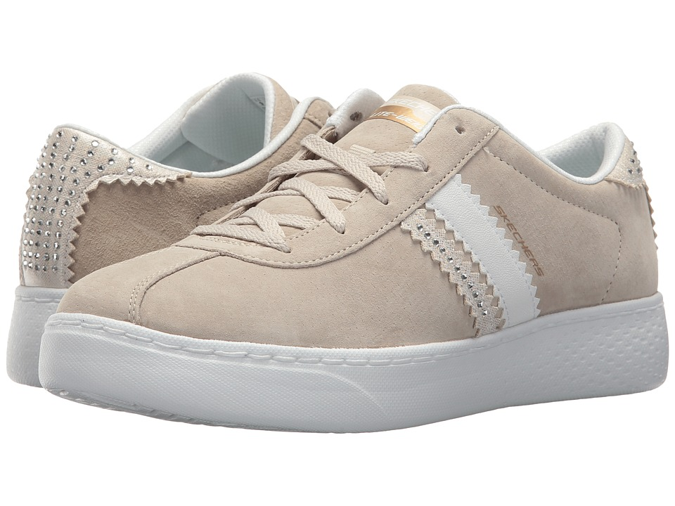 SKECHERS - Pig Suede Lace-Up w/ Air-Cool (Taupe) Women's Lace up casual Shoes