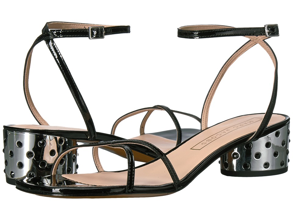 Marc Jacobs Sybil Ankle Strap Sandal (Black Patent) Women