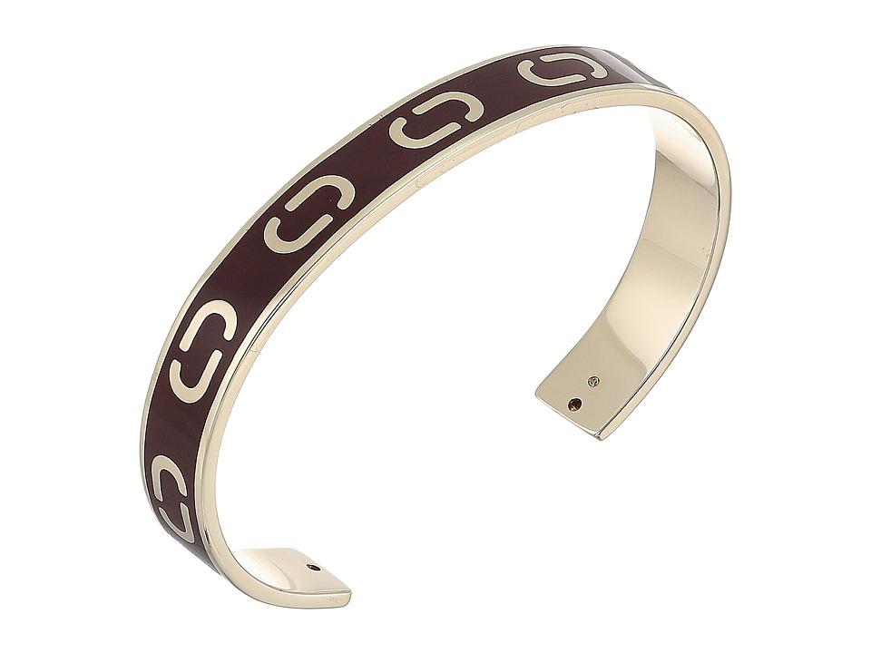 Marc Jacobs - Icon Enamel Cuff Bracelet (Deep Bordeaux) Bracelet