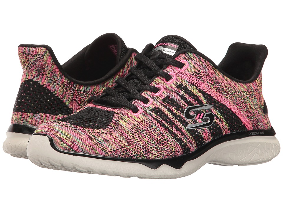 SKECHERS - Studio Burst - Edgy (Black) Women's Lace up casual Shoes