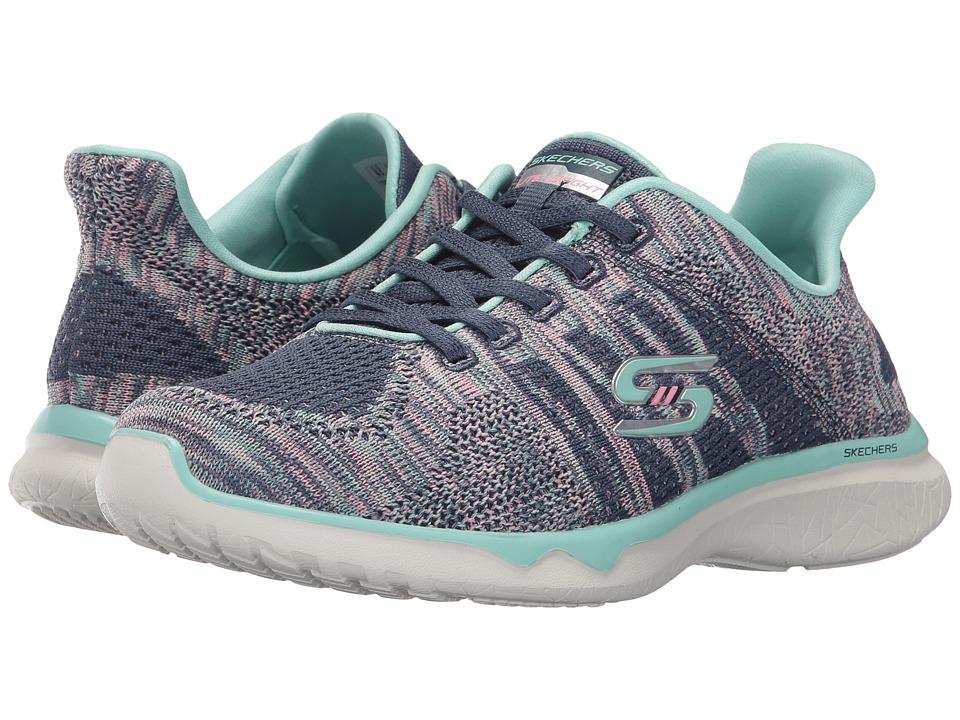 SKECHERS - Studio Burst - Edgy (Blue Mint) Women's Lace up casual Shoes