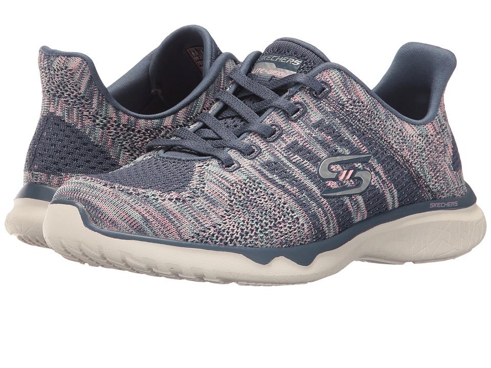SKECHERS - Studio Burst - Edgy (Slate) Women's Lace up casual Shoes