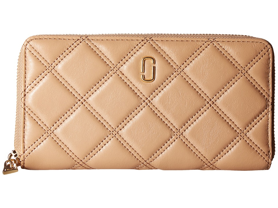 Marc Jacobs - Double J Matelasse Standard Continental Wallet (Mojave) Wallet Handbags