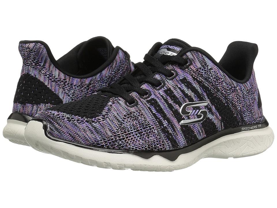 SKECHERS - Studio Burst - Edgy (Black 1) Women's Lace up casual Shoes