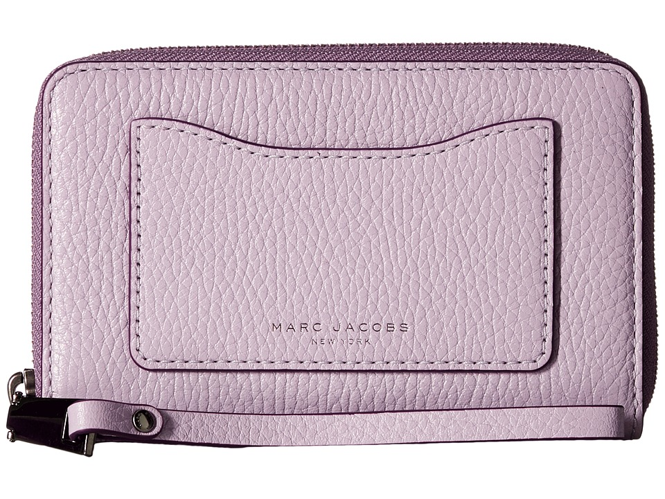 Marc Jacobs - Recruit Zip Phone Wristlet (Pale Lilac) Wristlet Handbags