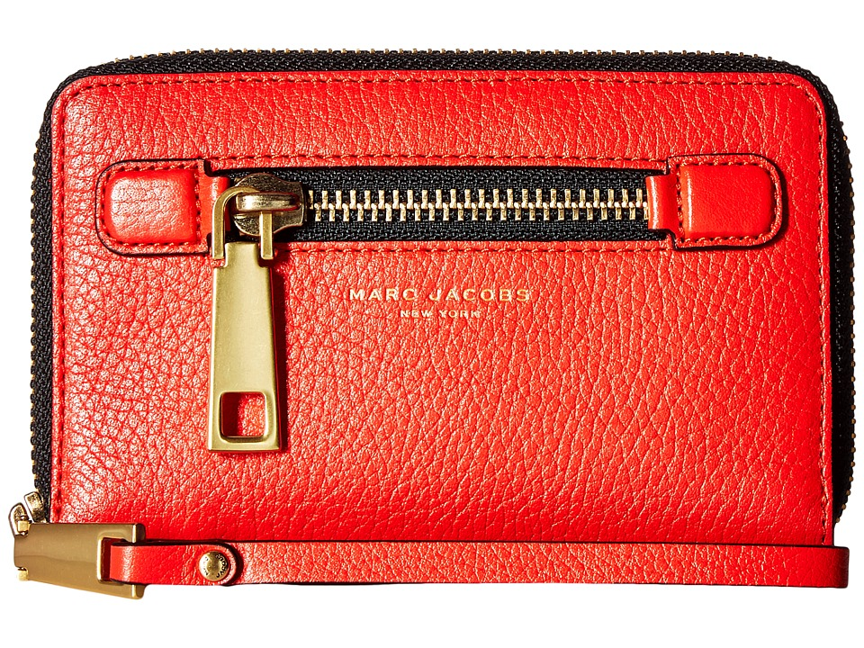Marc Jacobs - Gotham Zip Phone Wristlet (Lava Red) Wristlet Handbags