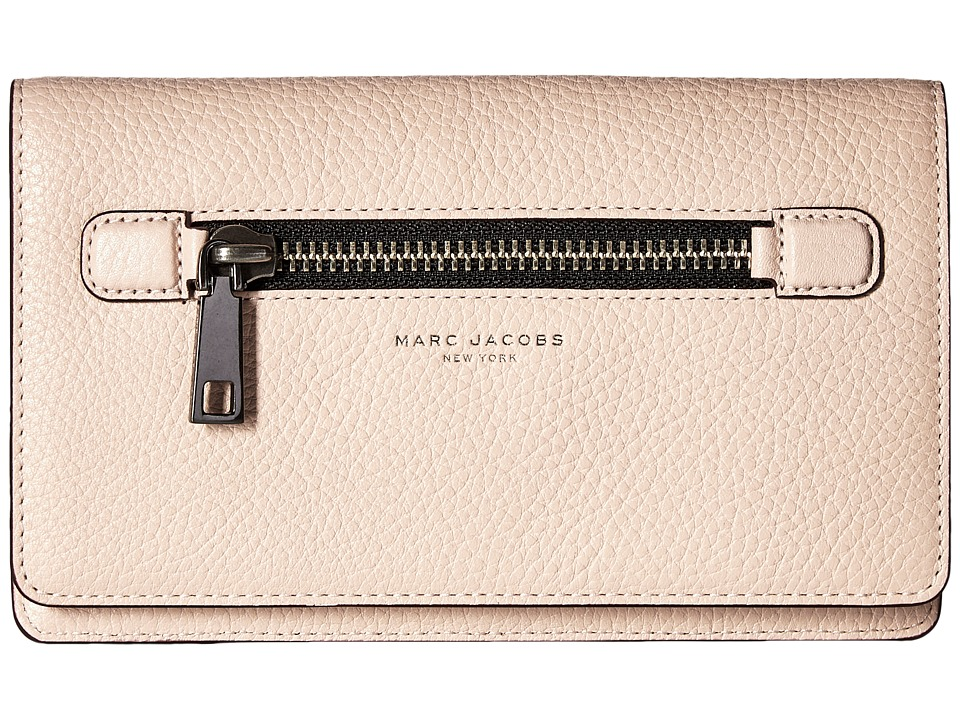 Marc Jacobs - Gotham Flat Phone Pouch (Pale Pink) Handbags