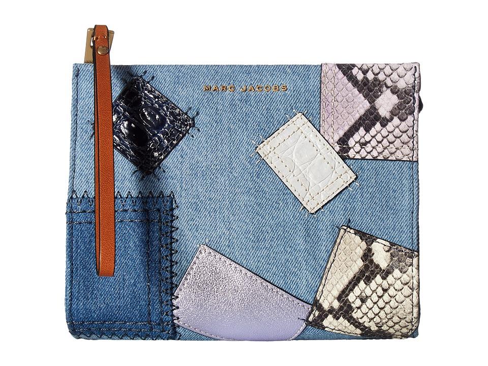 Marc Jacobs - Denim Patchwork Clutch Pouch (Denim Multi) Handbags