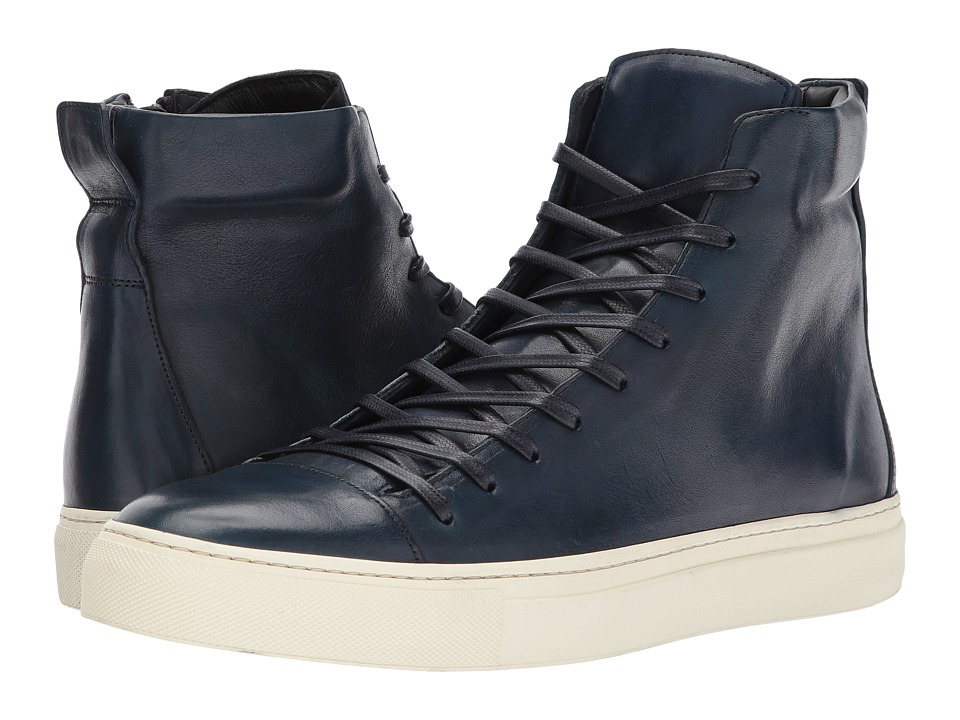 John Varvatos - Collection Reed Hi Top (Navy) Men's Lace up casual Shoes