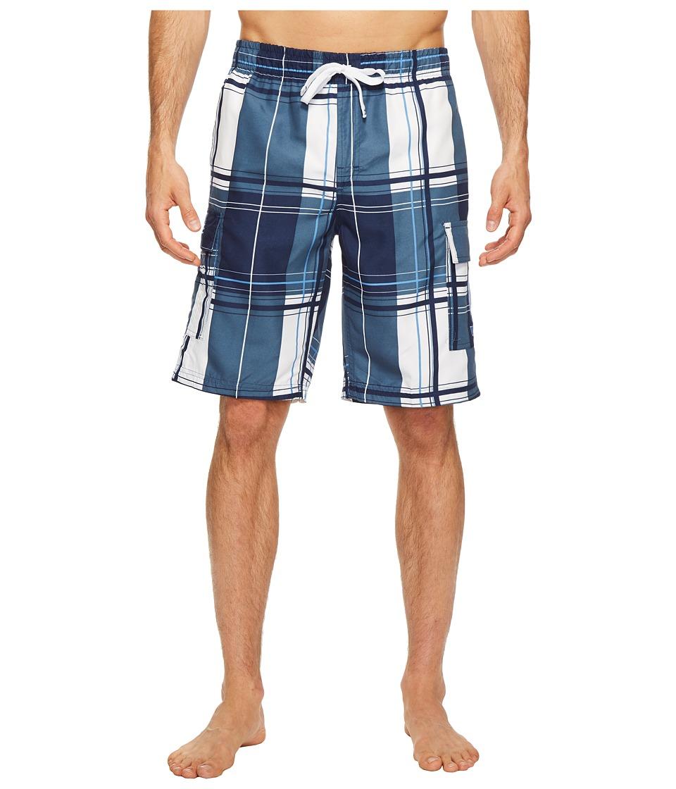 U.S. POLO ASSN. - Block Plaid Shorts (Classic Navy) Men's Swimwear