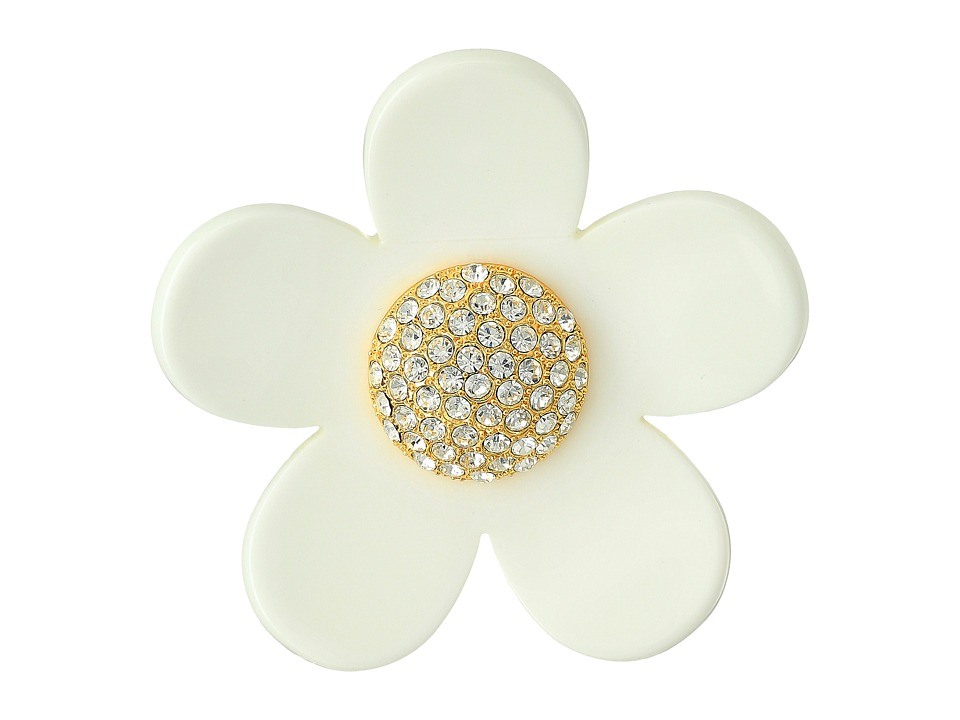 Marc Jacobs - Daisy Sparkle Brooch (Blush Rose Multi) Brooches Pins