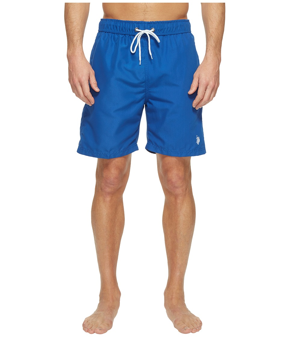 U.S. POLO ASSN. - 7 Classic Solid Small Pony (China Blue) Men's Swimwear