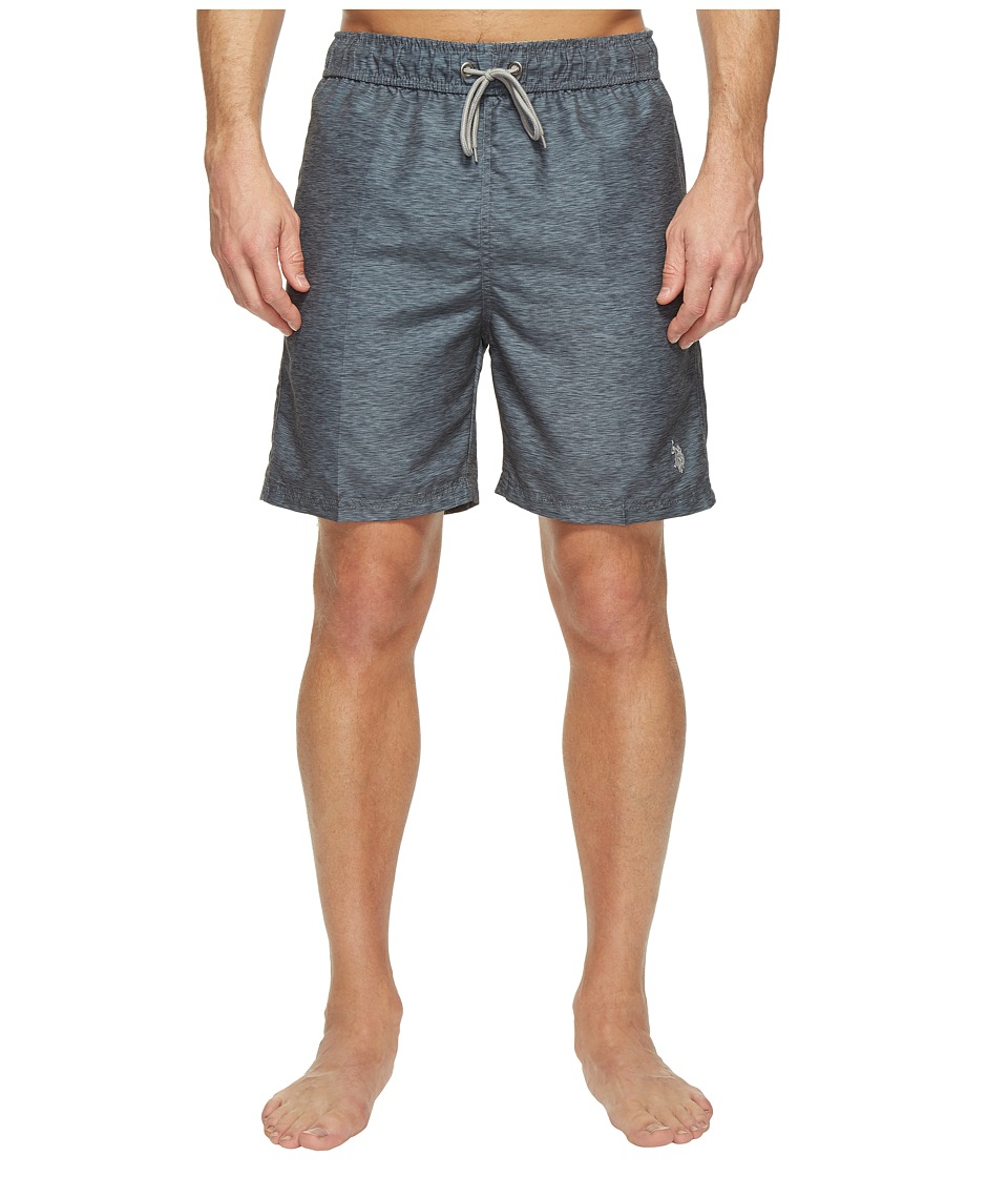 U.S. POLO ASSN. - Peached Microfiber Swim Shorts (Dark Heather Grey) Men's Swimwear