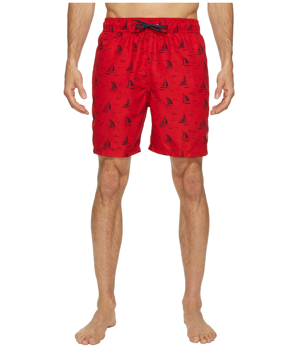 U.S. POLO ASSN. - Sailboat Swim Shorts (Engine Red) Men's Swimwear