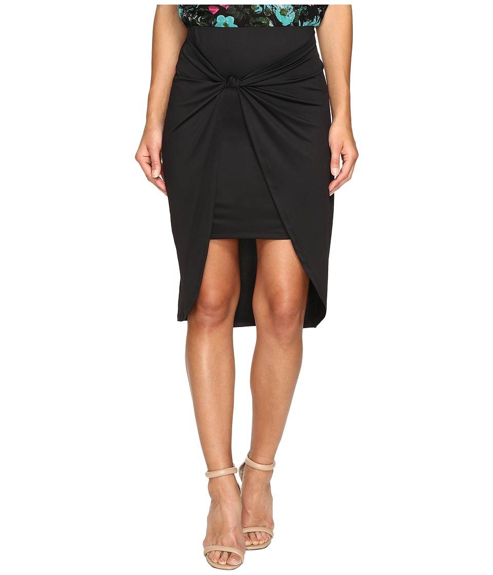 kensie Draped Knot-Detail Skirt KS2U6002 (Black) Women