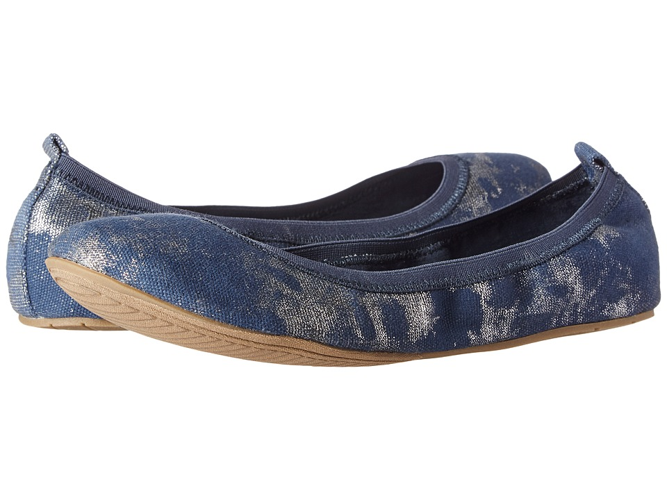 Kenneth Cole Unlisted - Whole Truth (Navy/Silver Canvas) Women's Flat Shoes
