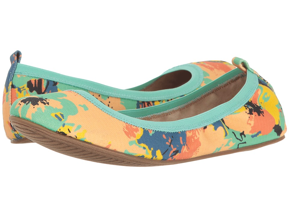 Kenneth Cole Unlisted - Whole Truth (Turquoise Multi Canvas) Women's Flat Shoes