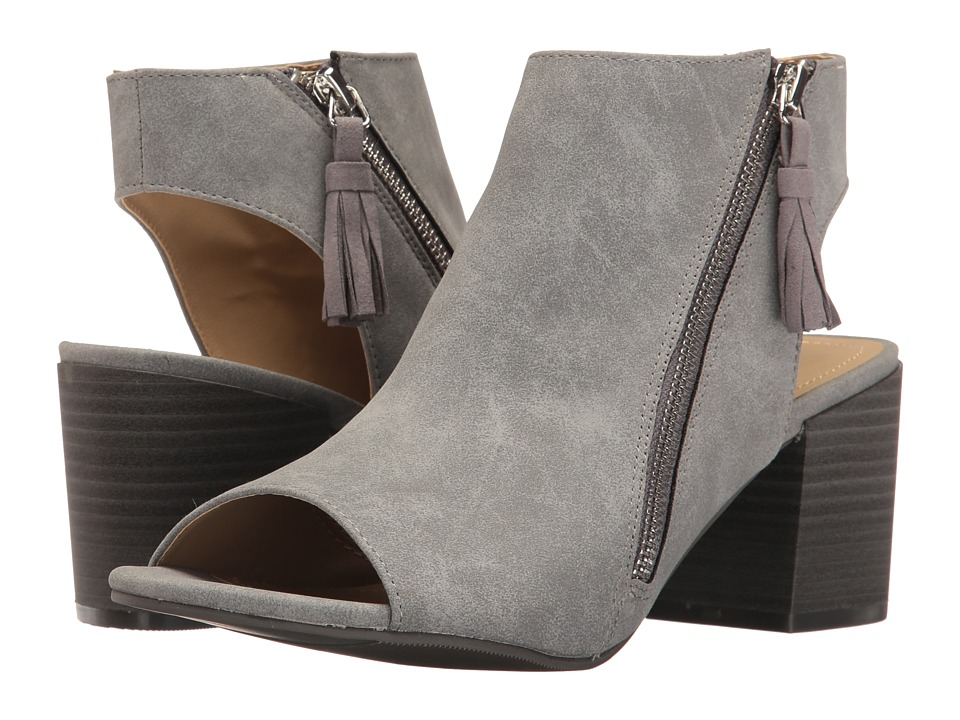 Kenneth Cole Unlisted - Vee Away (Grey Synthetic) Women's Zip Boots