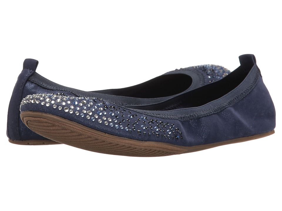 Kenneth Cole Unlisted - Whole Sparkle (Navy Nova Suede) Women's Flat Shoes