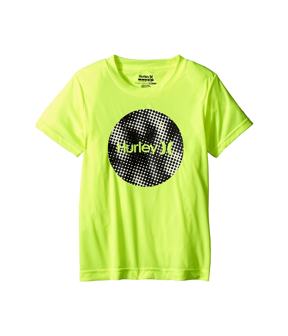 Hurley Kids - Sun Protect Krush Short Sleeve Tee (Little Kids) (Volt) Boy's T Shirt