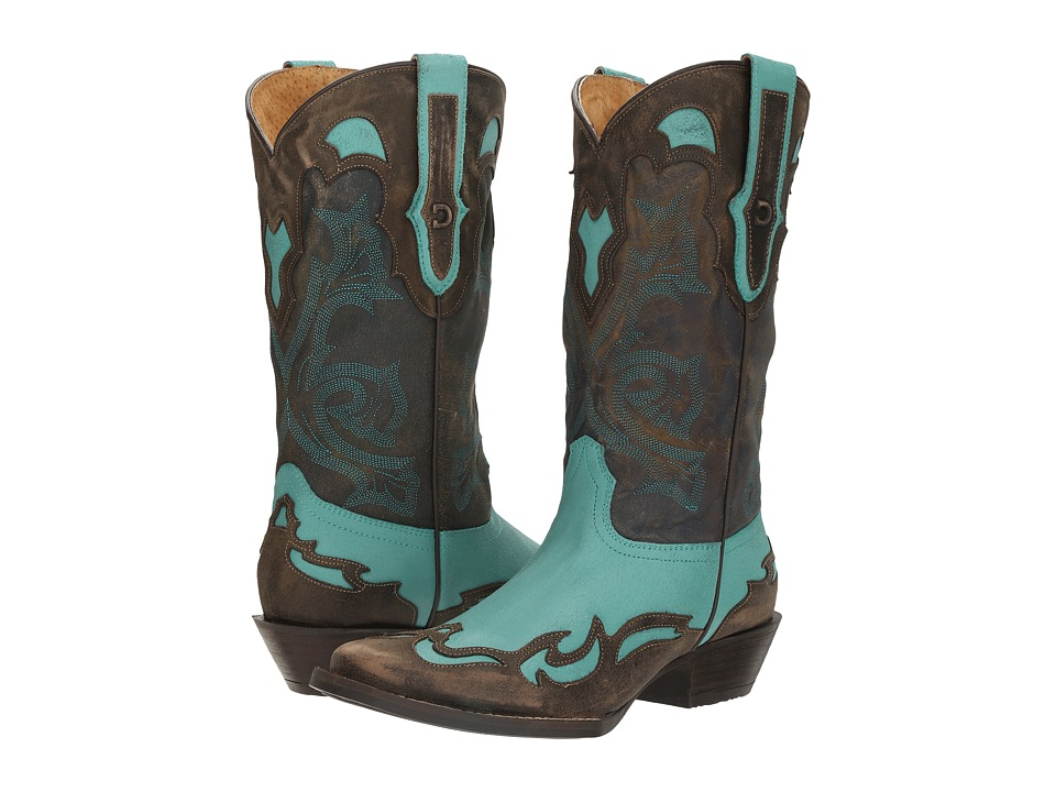 Durango Dream Catcher 12 Wingtip (Turquoise/Aqua Blue) Cowboy Boots