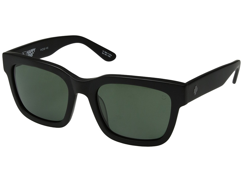 Spy Optic - Trancas (Matte Black/Happy Gray Green) Sport Sunglasses