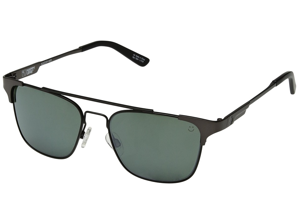Spy Optic - Westport (Matte Gunmetal/Matte Black/Happy Gray Green/Silver Mirror) Sport Sunglasses