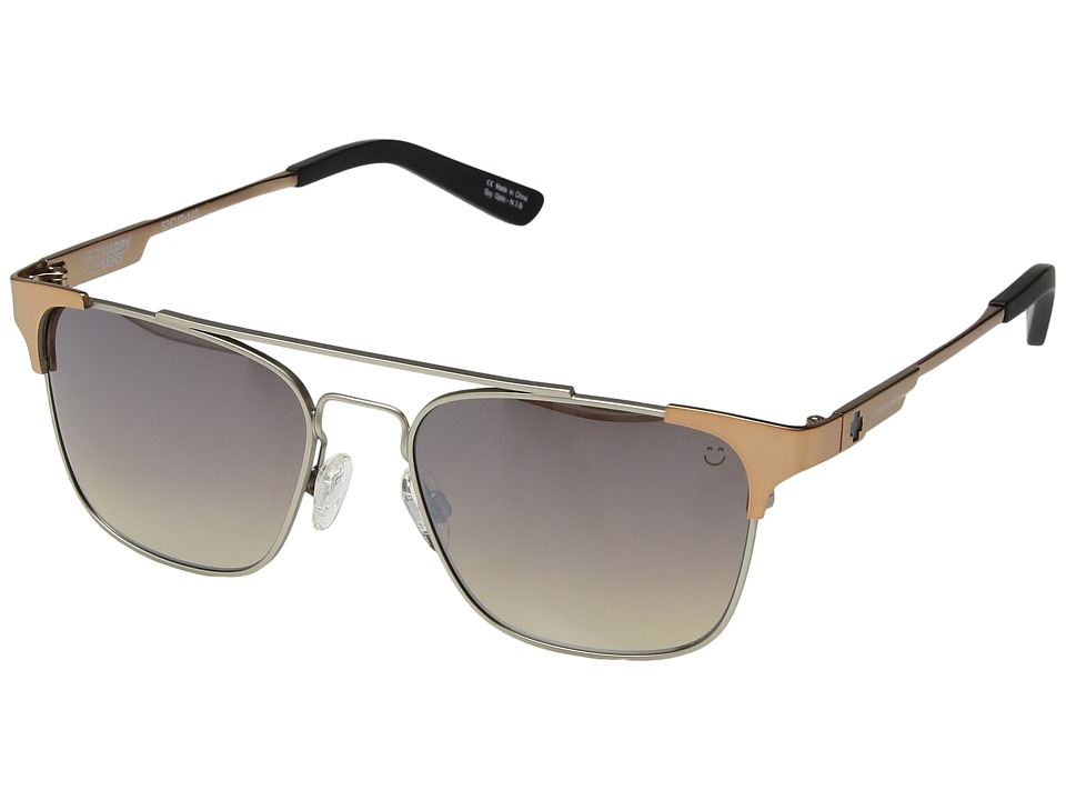 Spy Optic - Westport (Matte Silver/Matte Rose Gold/Happy Bronze Fade/Silver Mirror) Sport Sunglasses