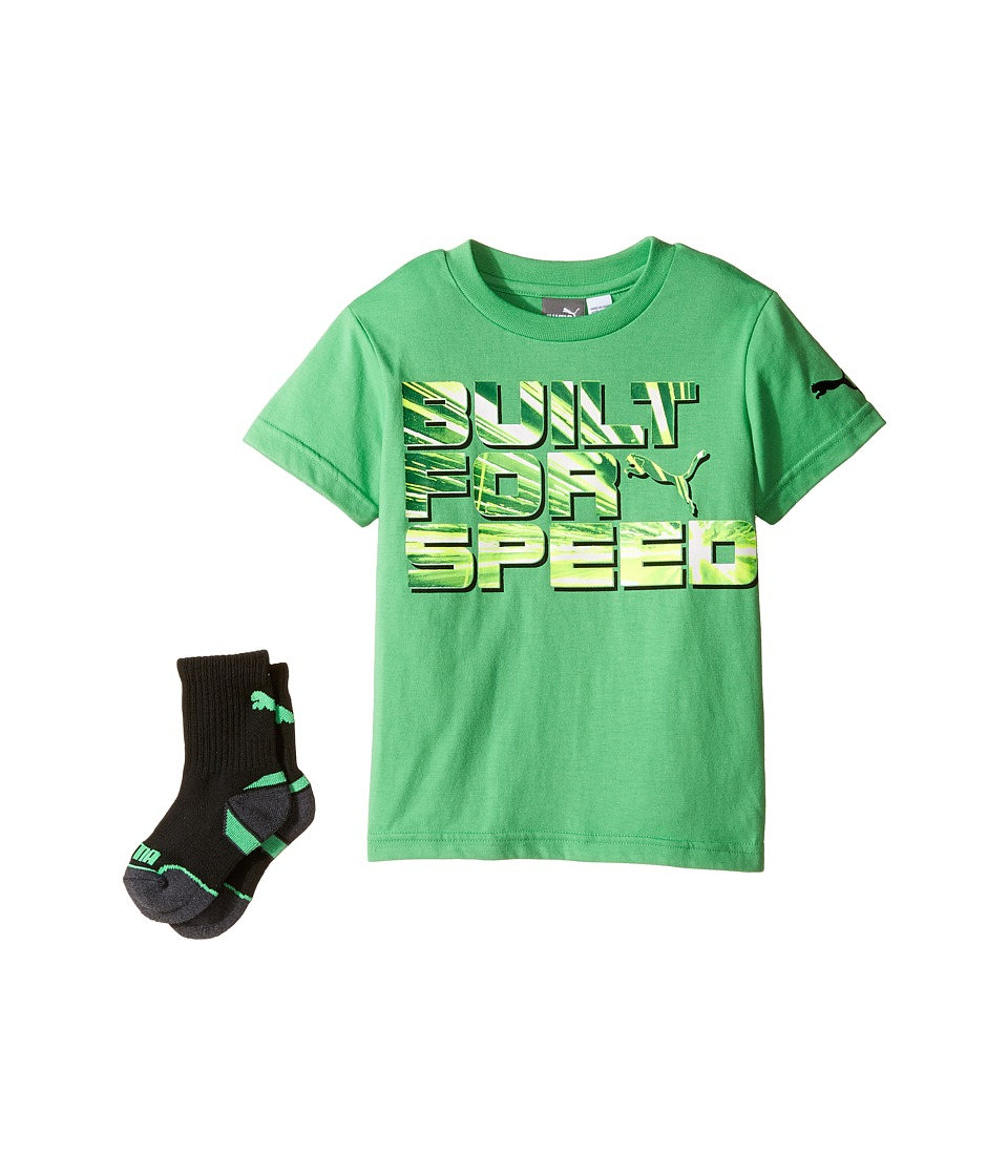 Puma Kids - Puma Graphic Tee Sock Set (Little Kids/Big Kids) (Field Gree) Boy's Active Sets