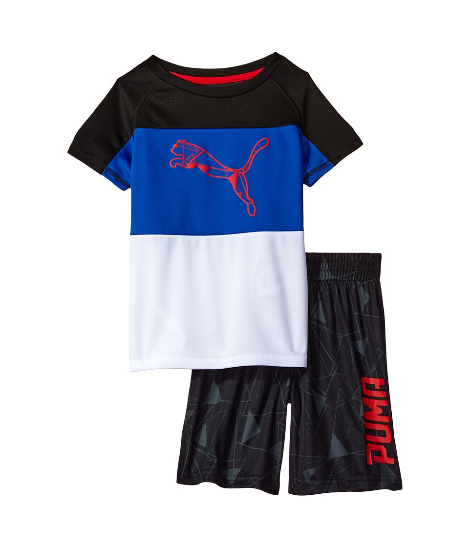 Puma Kids - PUMA(r) Two-Piece Shorts Tee Set (Little Kids/Big Kids) (PUMA Black) Boy's Active Sets