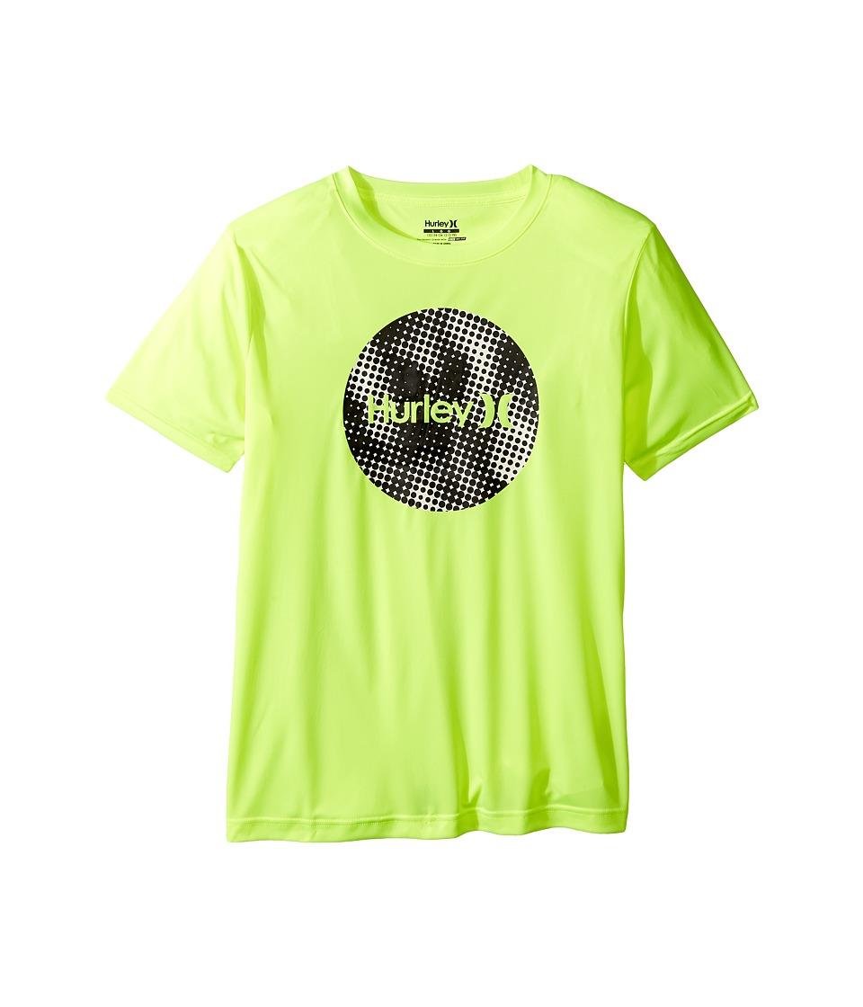 Hurley Kids - Sun Protect Krush Short Sleeve Tee (Big Kids) (Volt) Boy's T Shirt