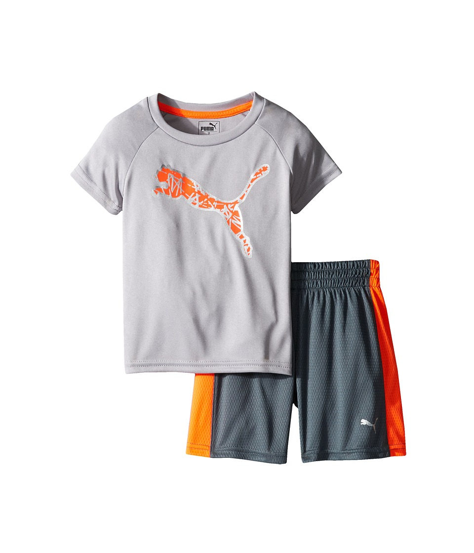 Puma Kids - PUMA(r) Two-Piece Shorts Tee Set (Toddler) (Smoke Grey) Boy's Active Sets