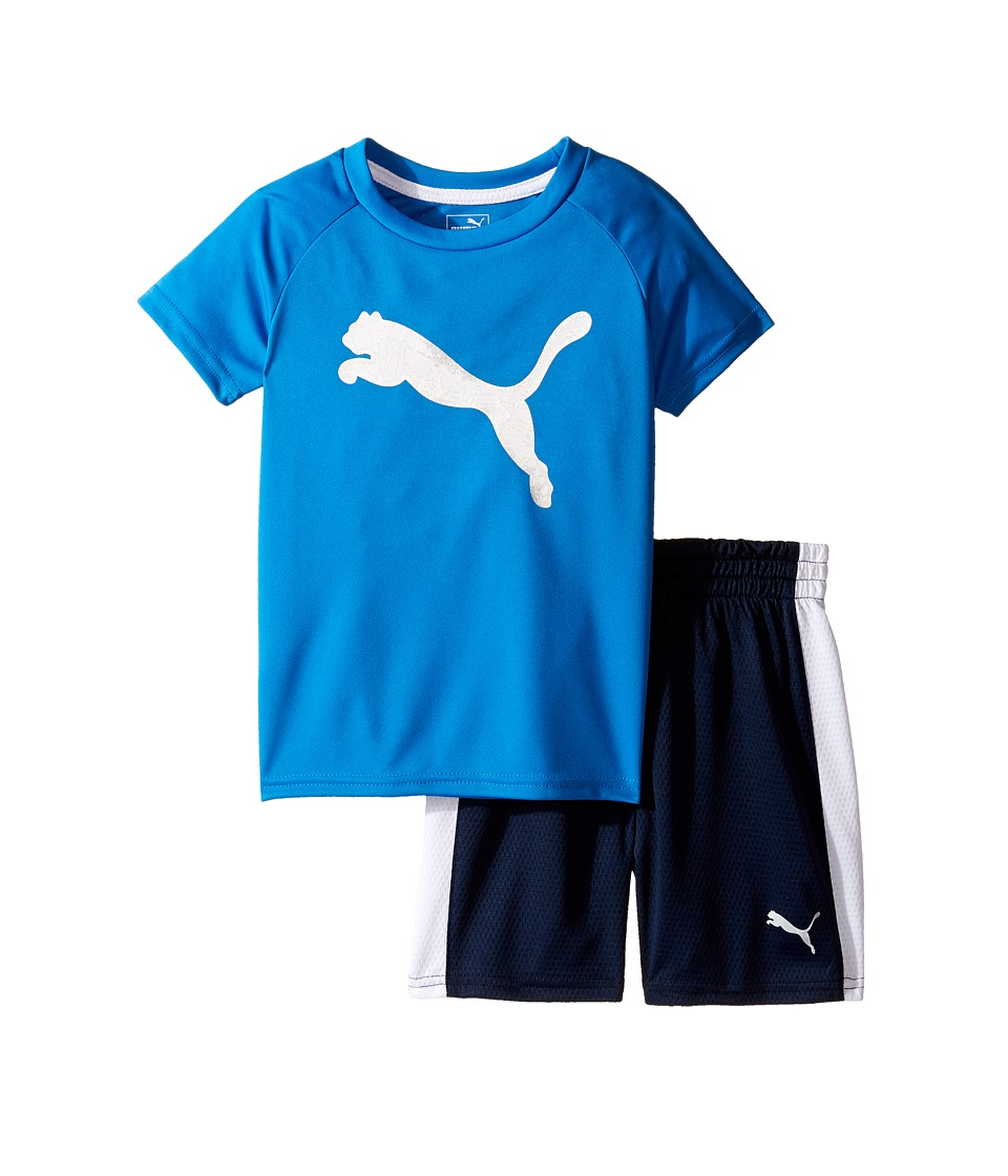 Puma Kids - PUMA(r) Two-Piece Shorts Tee Set (Toddler) (Deep Navy) Boy's Active Sets