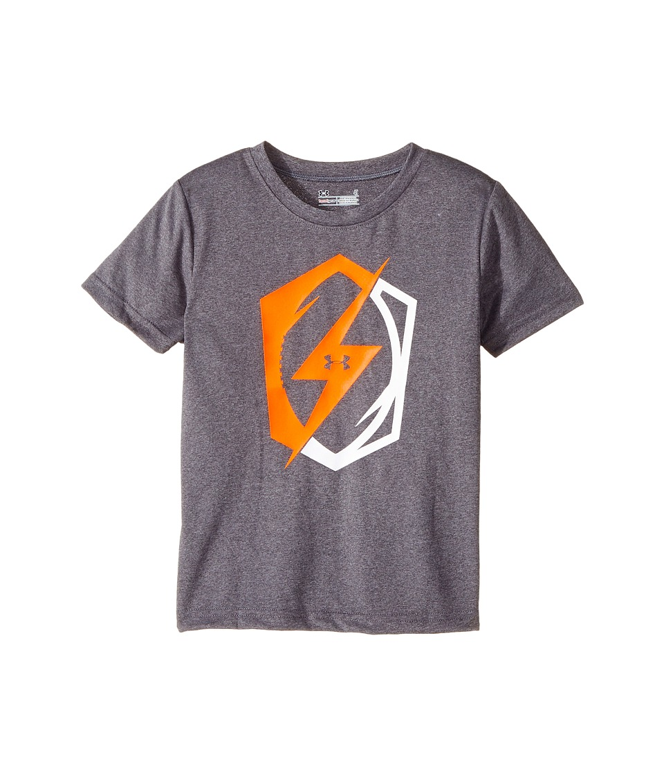 Under Armour Kids - Football Bolt Short Sleeve (Toddler) (Carbon Grey Heather) Boy's Clothing