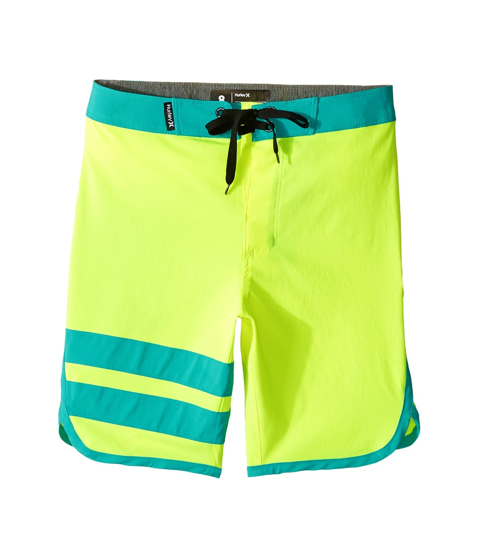 Hurley Kids Print Block Party Boardshorts (Big Kids) (Volt) Boy