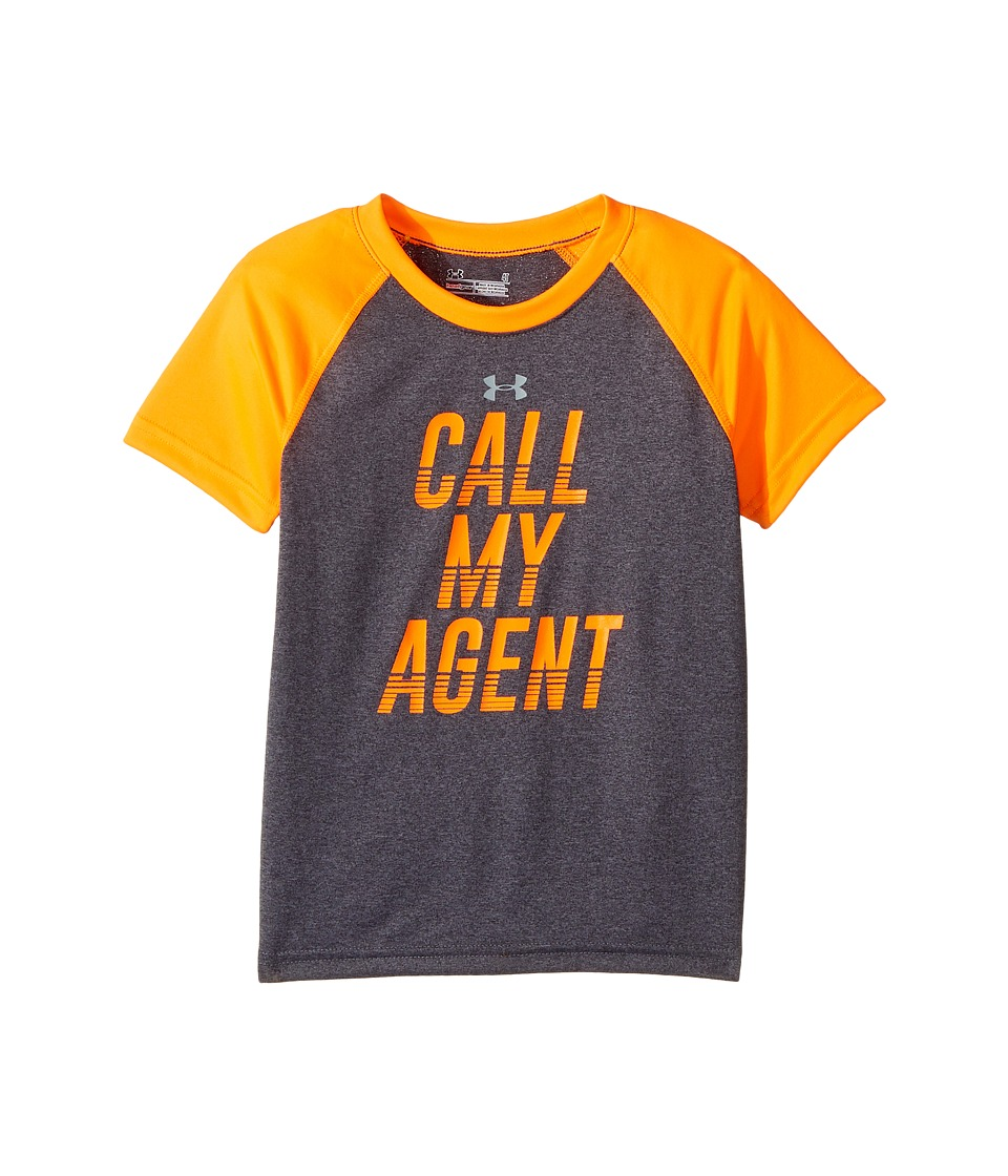 Under Armour Kids - Call My Agent Short Sleeve (Toddler) (Carbon Grey Heather) Boy's Clothing