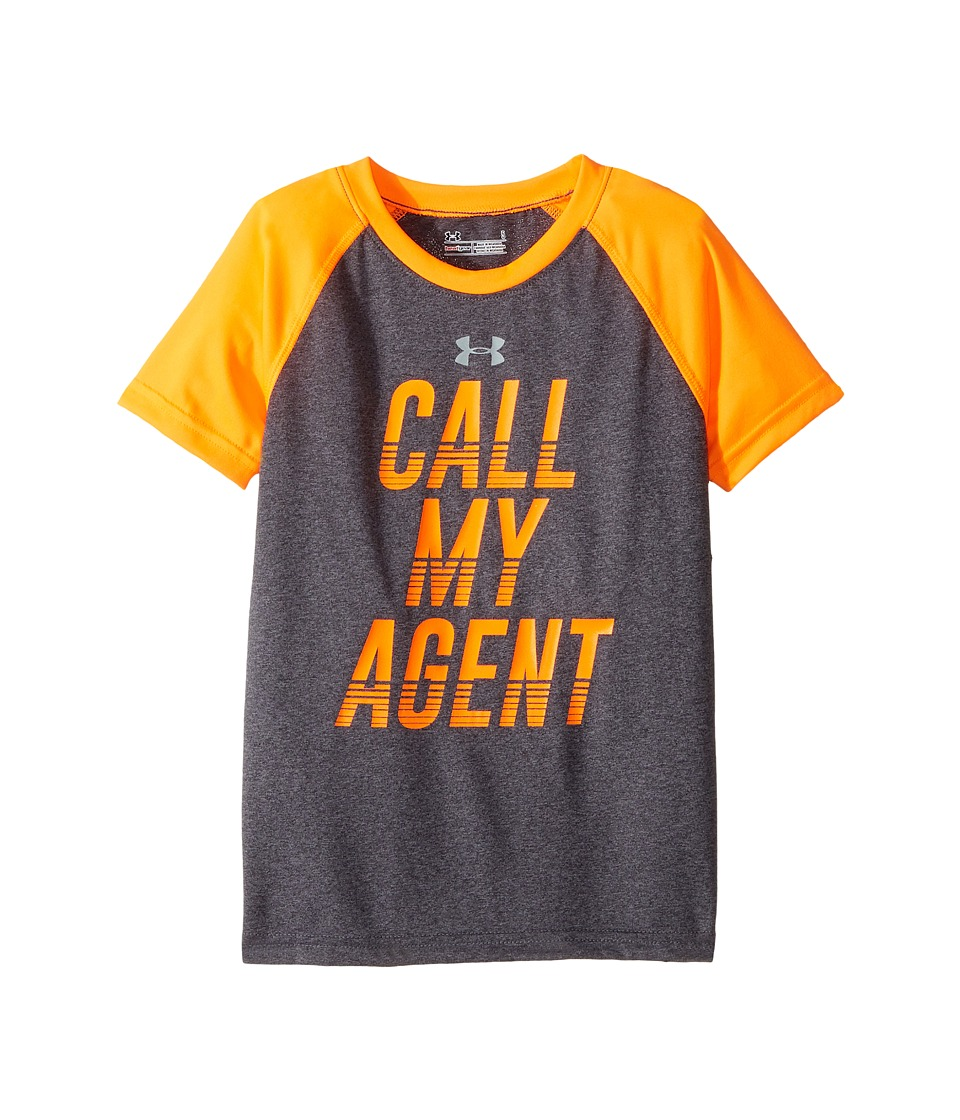 Under Armour Kids - Call My Agent Short Sleeve (Little Kids/Big Kids) (Carbon Grey Heather) Boy's Clothing