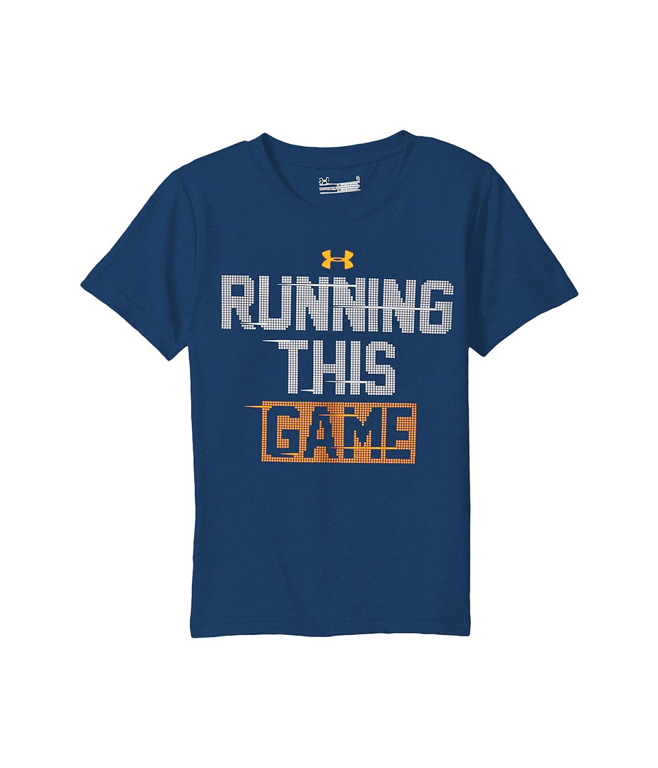 Under Armour Kids - Running This Game Short Sleeve (Little Kids/Big Kids) (Blackout Navy) Boy's Clothing