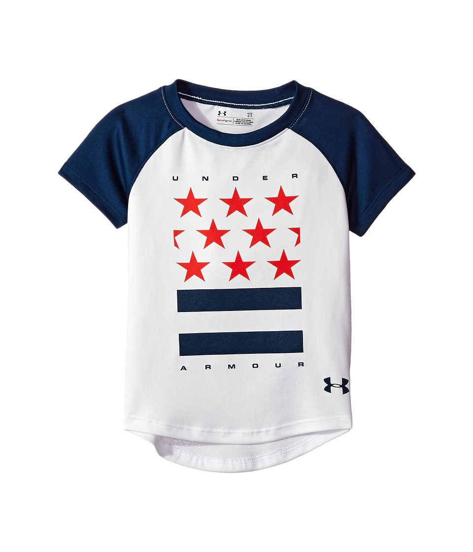 Under Armour Kids - Stars and Stripes Short Sleeve (Toddler) (White) Girl's Clothing